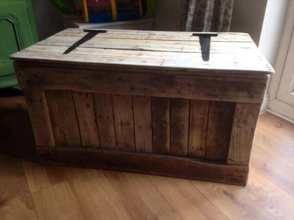 Shabby Chic Pallet Toy Box – 101 Pallets
