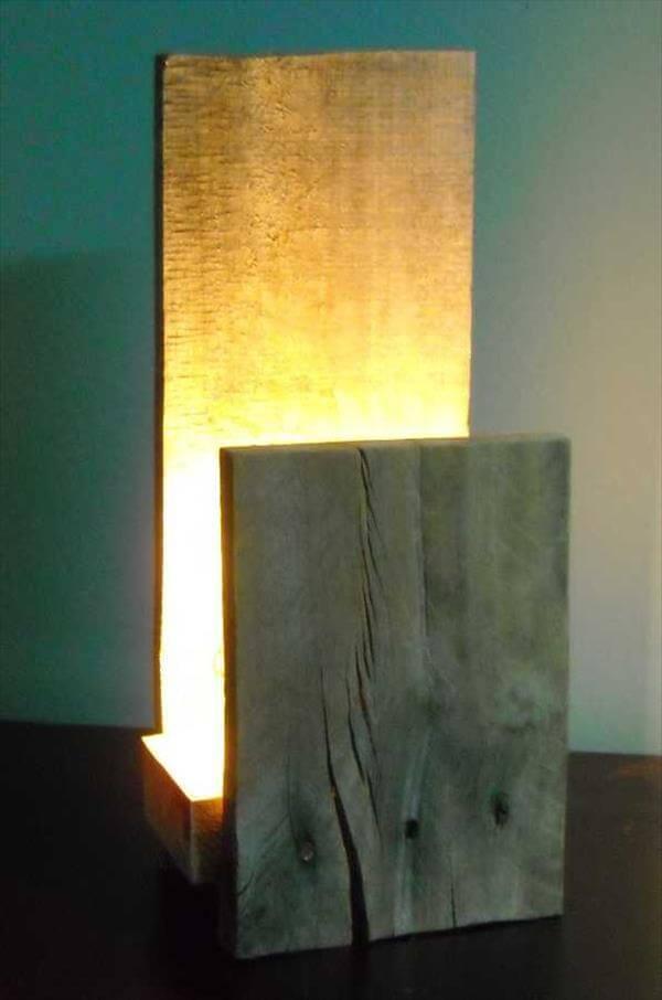 diy pallet rustic lamp