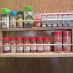 recycled pallet spice rack