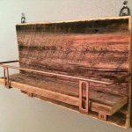 recycled pallet beverage shelf