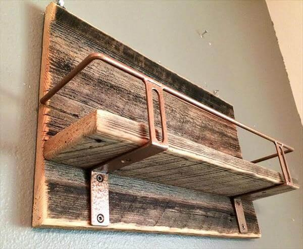 industrial pallet beverage shelf