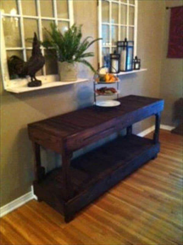 upcycled pallet buffet table