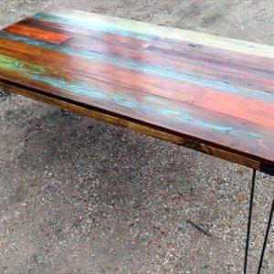 reclaimed pallet industrial dining table