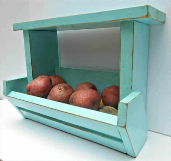 reclaimed pallet kitchen organizer