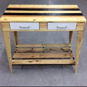 recycled pallet kitchen side table