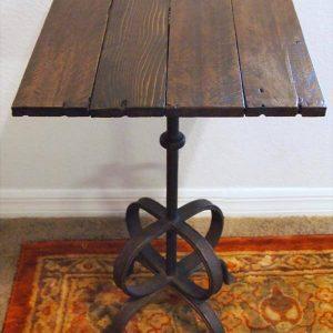 reclaimed pallet metal side table