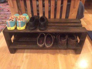 Salavged Pallet Shoes Storage Rack