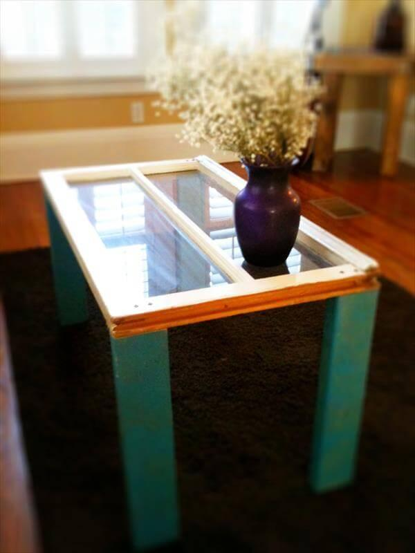 Recycled Pallet Window Table
