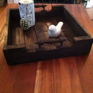 recycled pallet serving tray