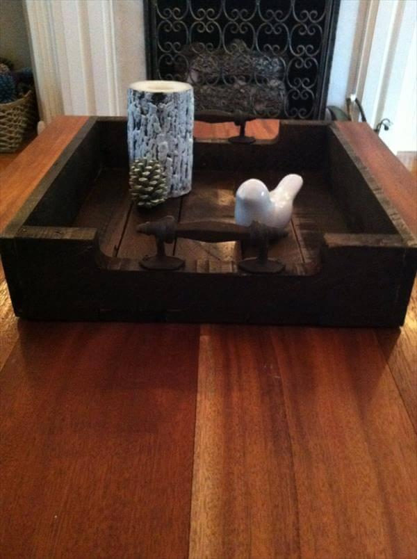 Diy Vintage Pallet Serving Tray 101 Pallets
