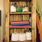 upcycled pallet bathroom wall hanging shelf