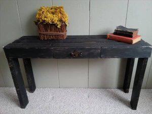 DIY Rustic Black Pallet Table