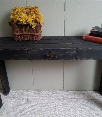 recycled pallet black table