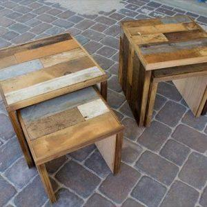 recycled pallet miniature tables