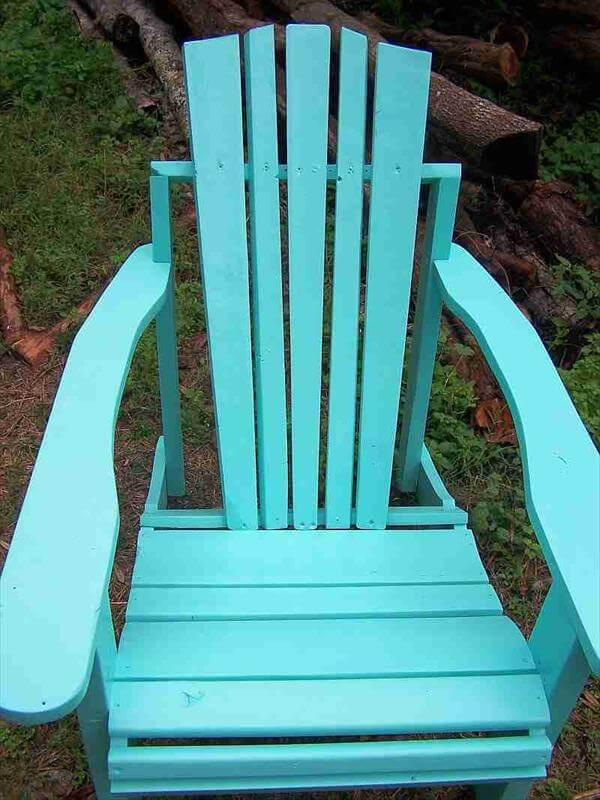 Diy Pallet Adirondack Chairs And Ottoman 101 Pallets
