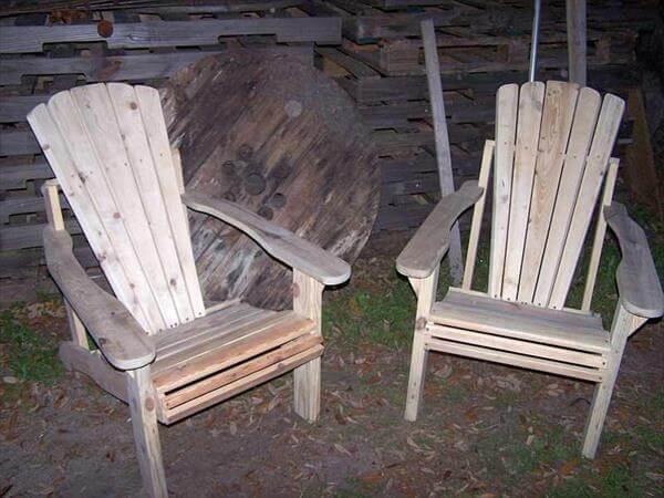 pallet adirondack chair plans. Rustic Pallet Adirondack Chairs Chair Plans A