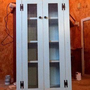 recycled pallet bathroom storage cabinet