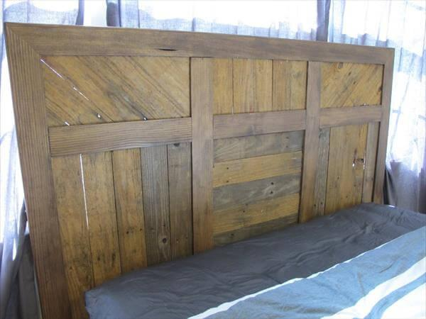 reclaimed pallet bed with storage