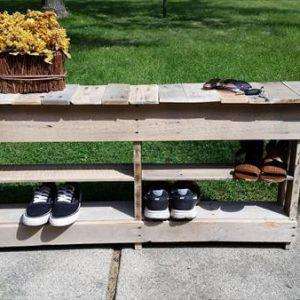 diy reclaimed pallet entry way table