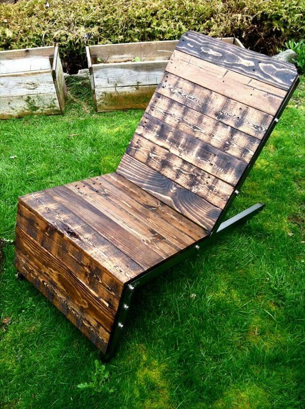 reclaimed pallet industrial adirondack chair