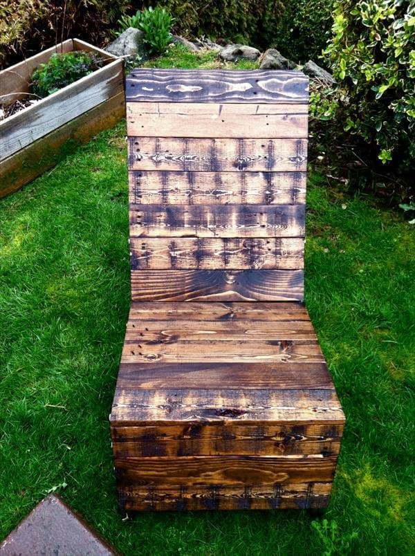 repurposed pallet industrial adirondack chair