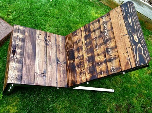 resurrected pallet industrial coffee table