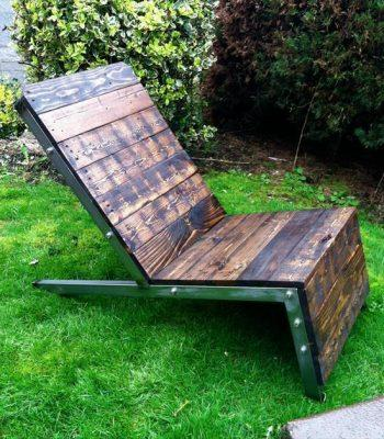 recycled pallet industrial Adirondack chair
