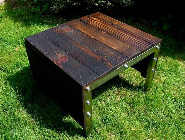 diy pallet industrial outdoor table