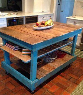 recycled pallet kitchen island and buffet