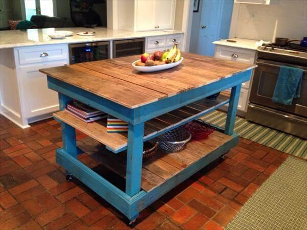 diy pallet kitchen island/ buffet table – 101 pallets