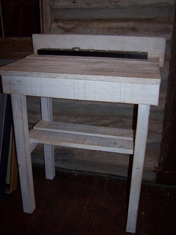 recycled pallet potting bench and buffet table