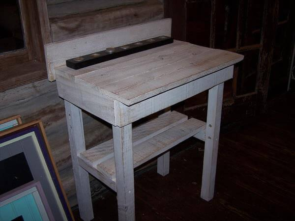 diy pallet potting bench and buffet table