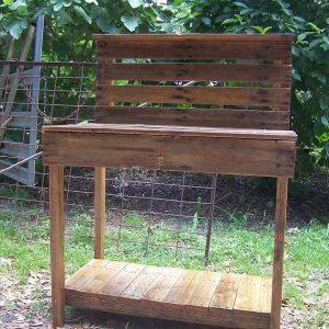 recycled pallet potting table and buffet