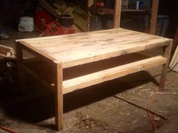 recycling pallet coffee table