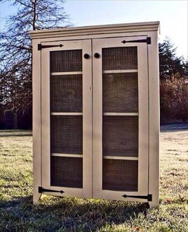 Diy pallet rustic and shabby chic cabinet 101 pallets for Pallet shabby chic
