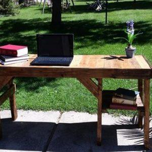 recycled pallet wood desk