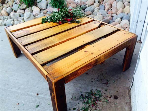diy pallet chic coffee table