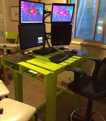recycled pallet computer desk