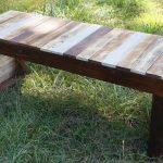 reclaimed pallet table and bench