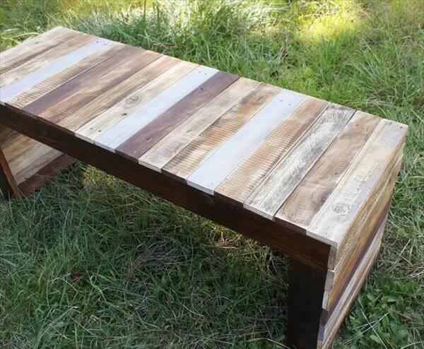 diy pallet table and bench
