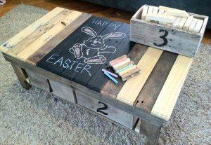 Pallet Coffee Table with Storage boxes