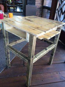 Pallet Wood SideTable for Outdoor