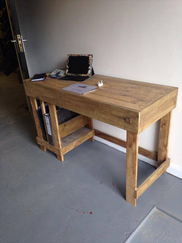 Pallet Office Desk DIY Computer 101 Pallets