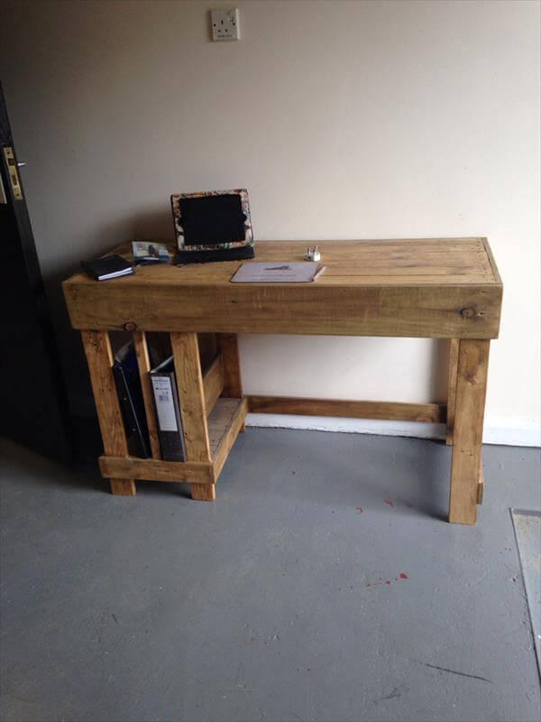 office desk diy. DIY Pallet Computer Desk Office Diy E