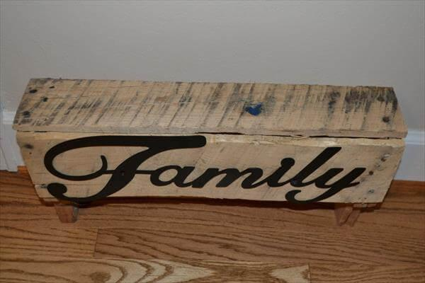 Pallet Shelf Sign of family