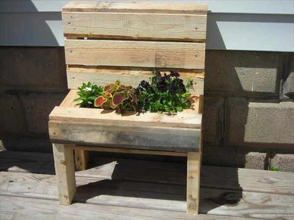 Wondrous Pallet Wood Garden Bench Planter 101 Pallets Pdpeps Interior Chair Design Pdpepsorg