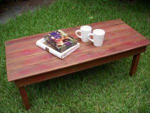 DIY Rustic Pallet Red Coffee Table