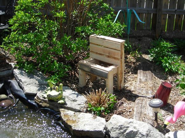 diy pallet garden bench planter