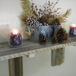 recycled pallet large wall shelf idea on a budget.