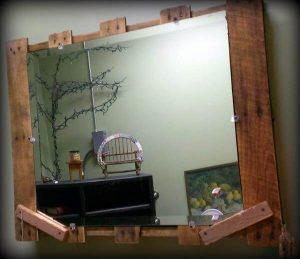Pallet Home Decor- Rustic Pallet Mirror